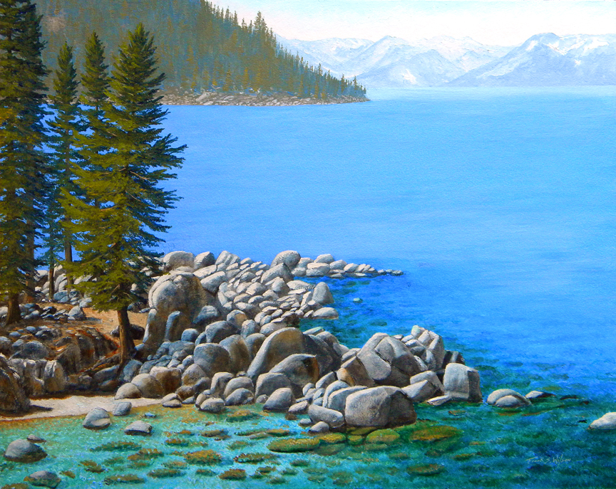 Beyond Secret Cove, lake tahoe, Frank Wilson, oil painting, oil paintings,landscapes,