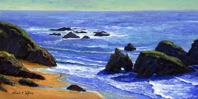 seascape painting, Pacific Solitude, oil painting by Frank Wilson