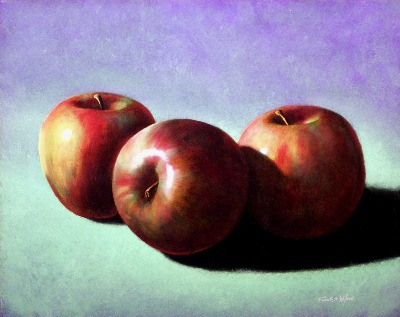 Fugi Apples oil painting by Frank Wilson