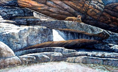 The Loner Cougar painting by Frank Wilson
