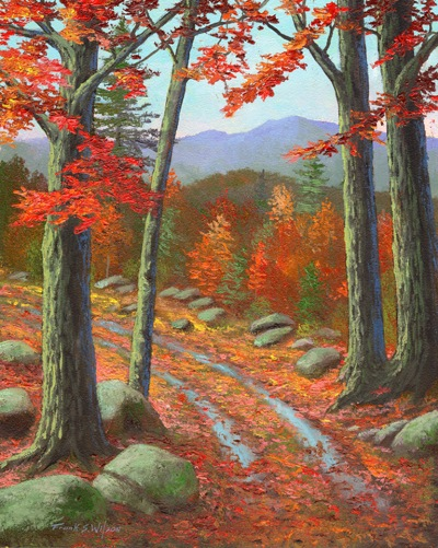 """Autumn Rutted Road"" Frank Wilson, oil paintings 8 x 10 inces"