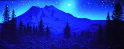 Frank wilson fine art paintings murals illusions for Blacklight wall mural