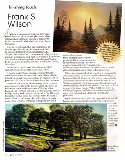 Frank Wilson Featured In Northern California Spaces Magazine