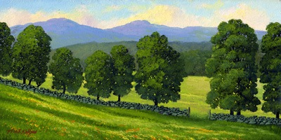 """Distant Mountains"" oil painting by Frank Wilson"