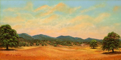 """Foothills""  oil painting by Frank Wilson"