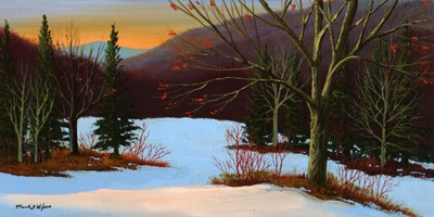 """Last Light Of Day"" oil painting by Frank Wilson"