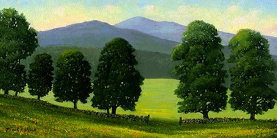 """Old Wall Old Maples"" oil painting by Frank Wilson"