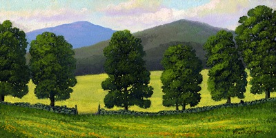 """Stonewall Field"" oil painting by Frank Wilson"