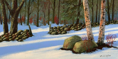 """Stone Wall Gateway"" oil painting by Frank Wilson"