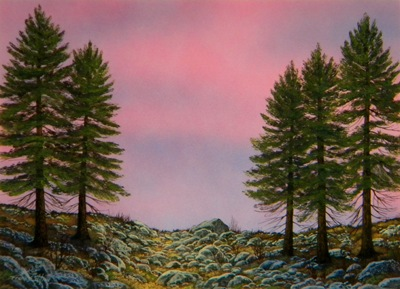 First Light, an original watercolor and gouache painting by Frank Wilson