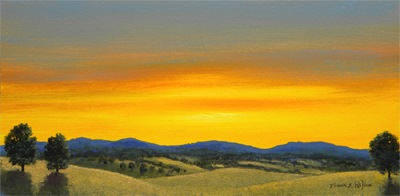 Foothils Sunset, Frank Wilson, oil painting