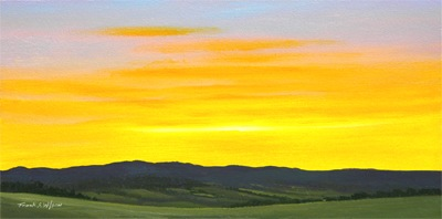 Sunrise, Frank Wilson, oil painting